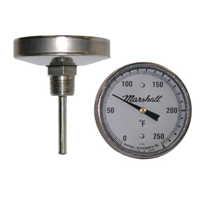 3 in Dial Bimetal Thermometer