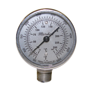 3 in Bottom Mount Bimetal Thermometer from Marshall Instruments